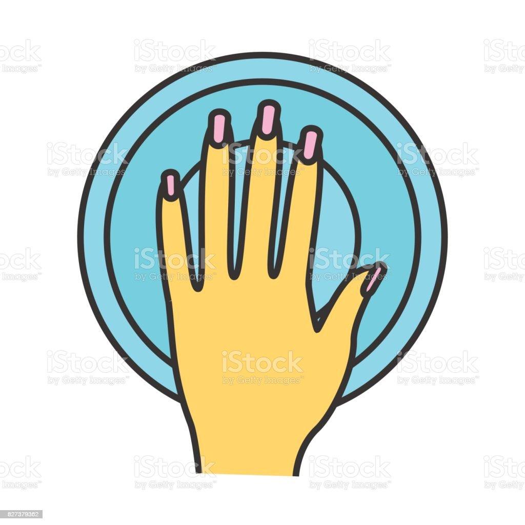 Manicure bowl icon vector art illustration