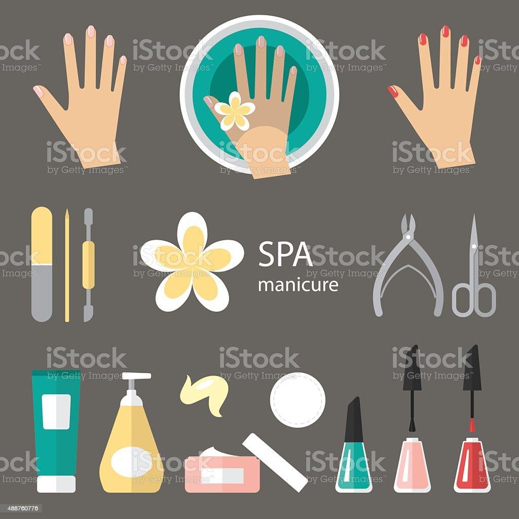 Manicure icons vector art illustration