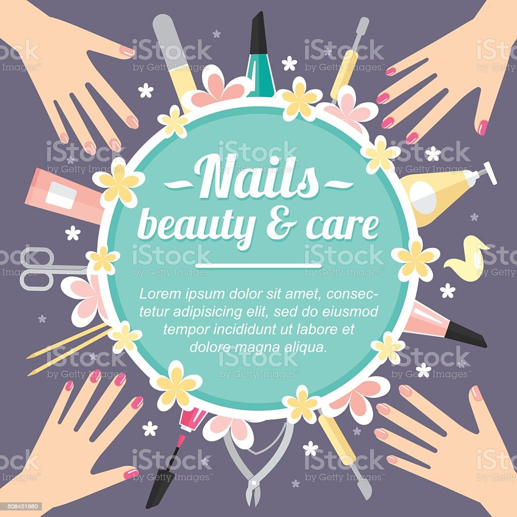 Manicure poster vector art illustration