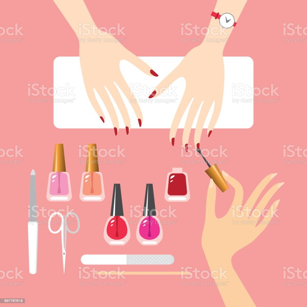Manicure vector art illustration