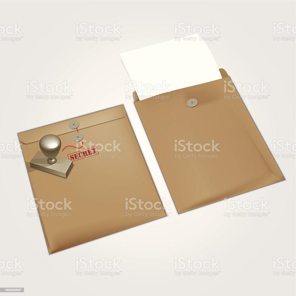 Manila Envelope vector art illustration