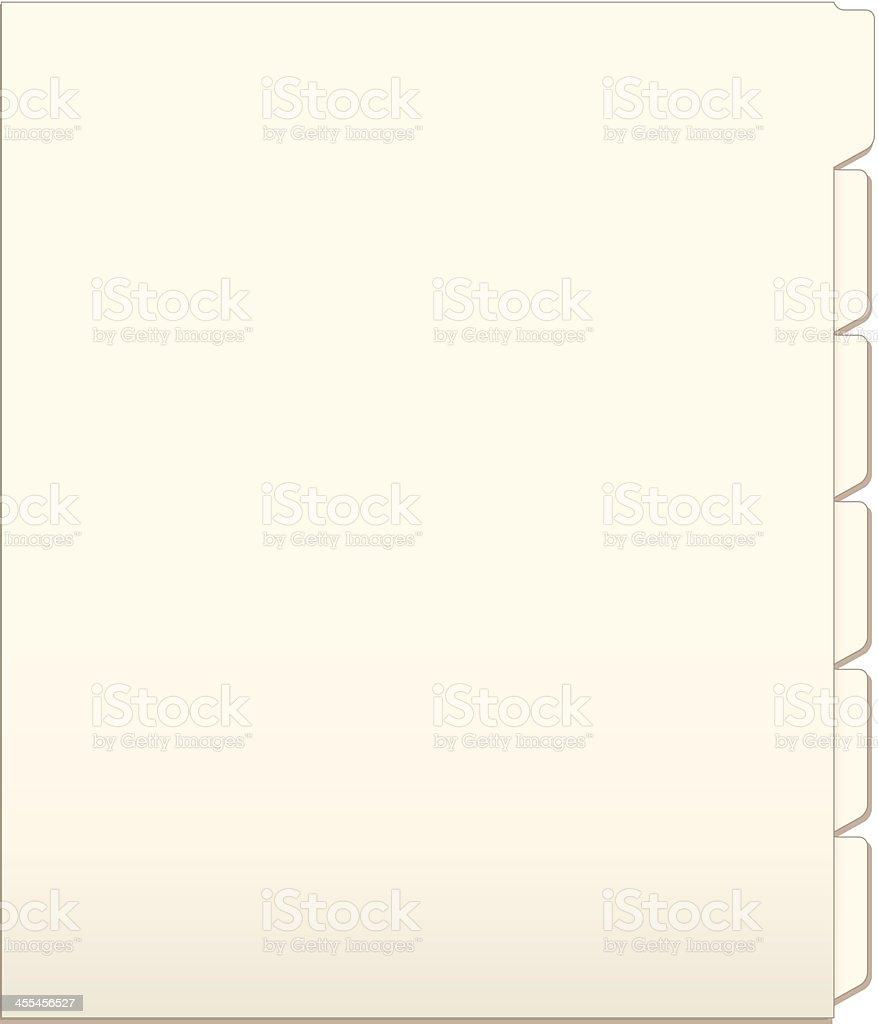 Manila Folder vector art illustration
