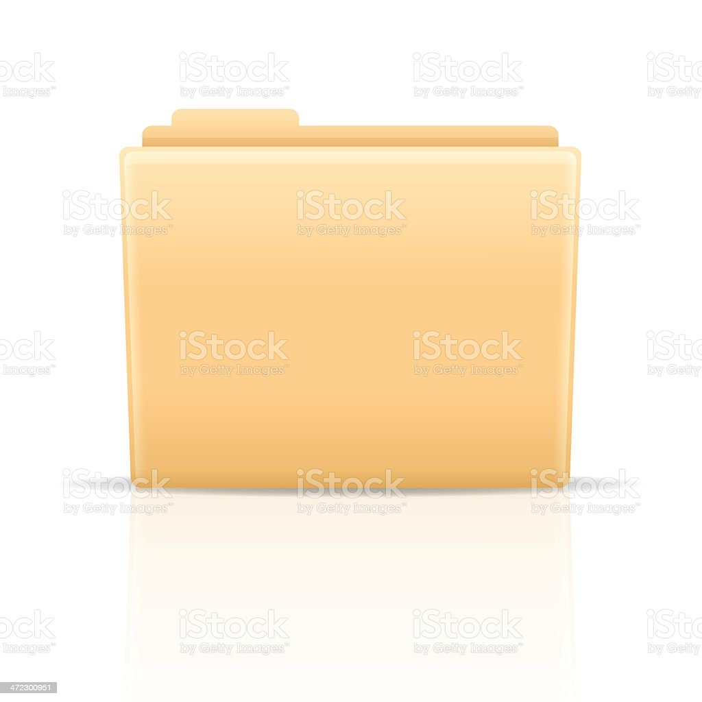 Manila Folder royalty-free stock vector art