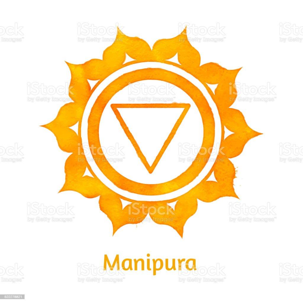 Manipura chakra. vector art illustration