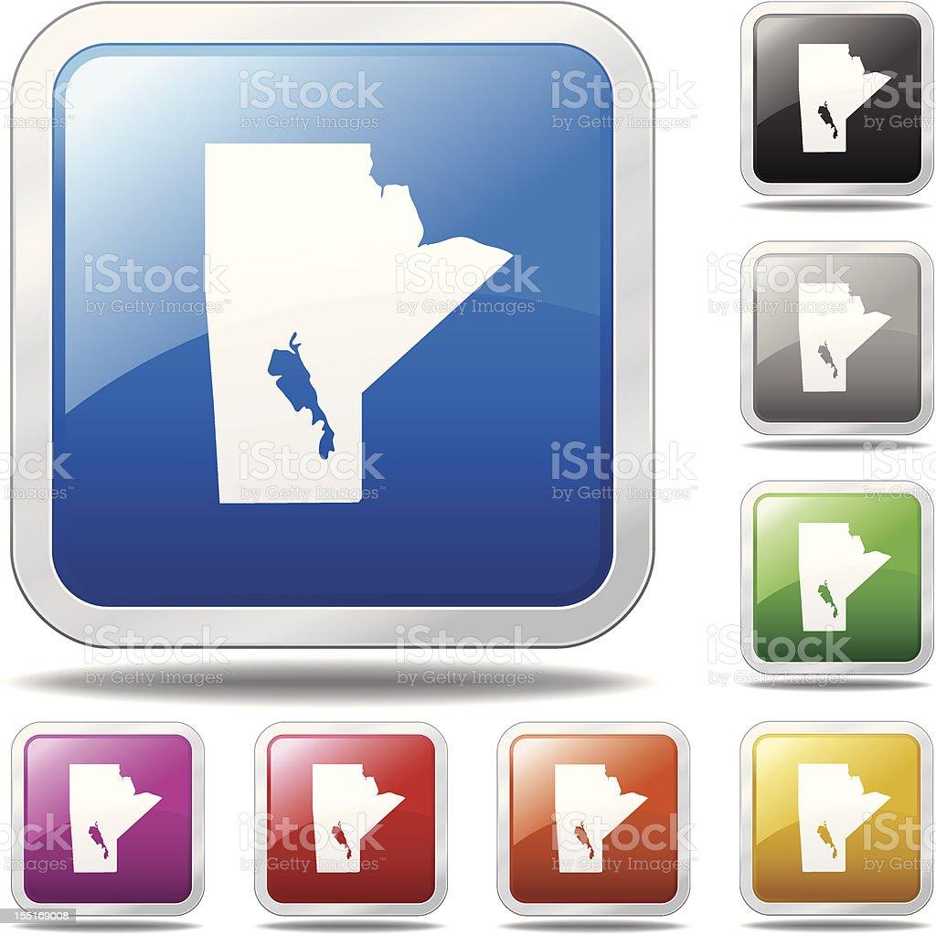 Manitoba Icon royalty-free stock vector art