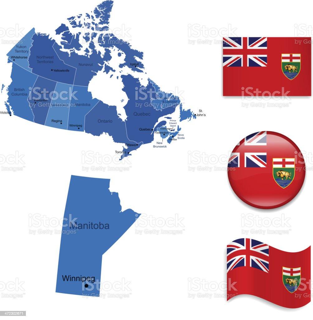 Manitoba province set royalty-free stock vector art