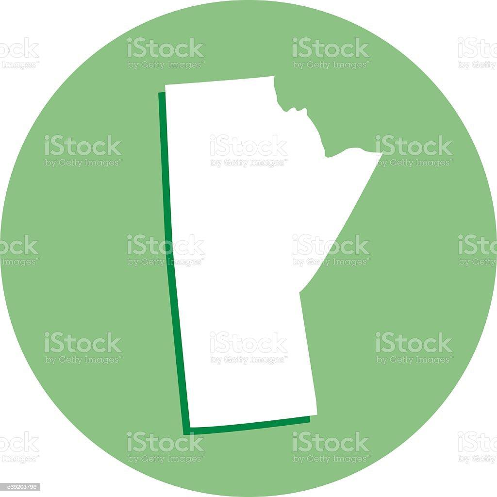 Manitoba Round Icon vector art illustration