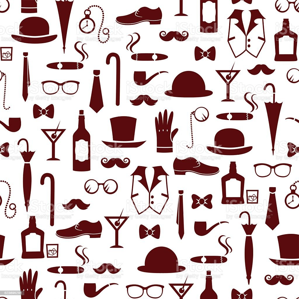 manly items vector art illustration