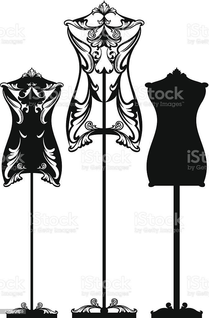 mannequin design vector art illustration