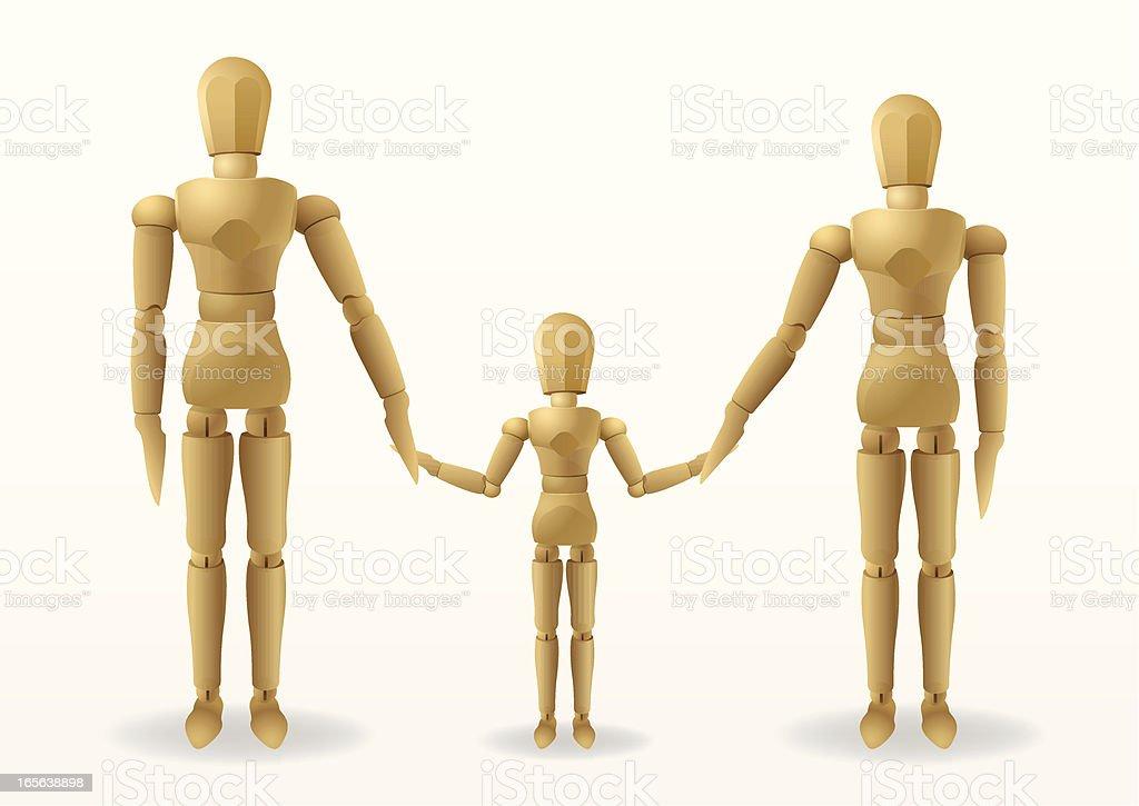 mannequin family royalty-free stock vector art