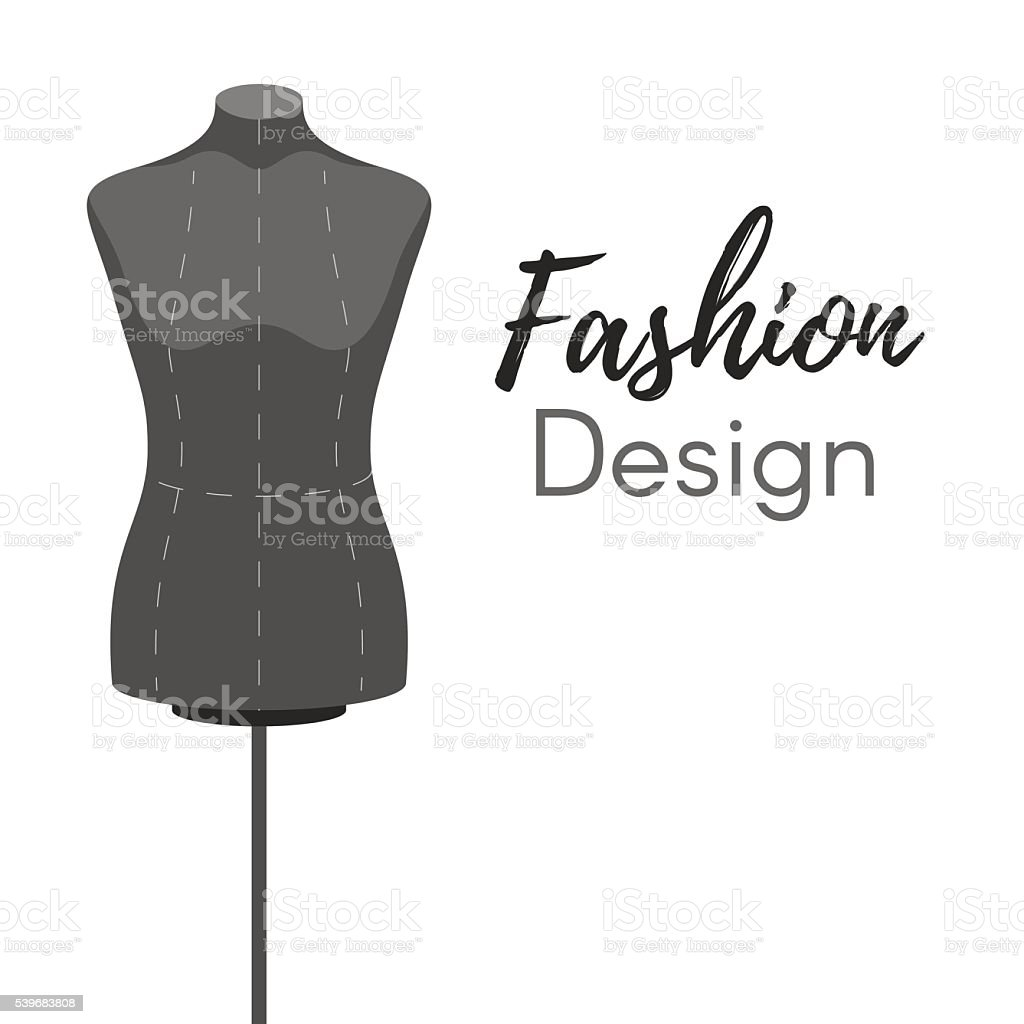 Mannequin fashion design cover vector art illustration