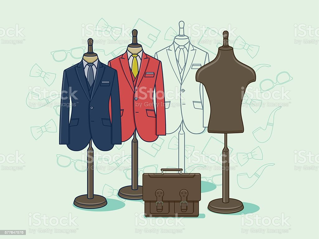 Mannequin for clothes vector art illustration
