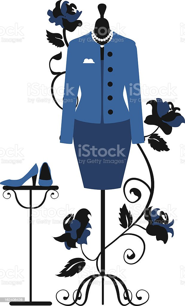 Mannequin for tailors with business dress vector art illustration