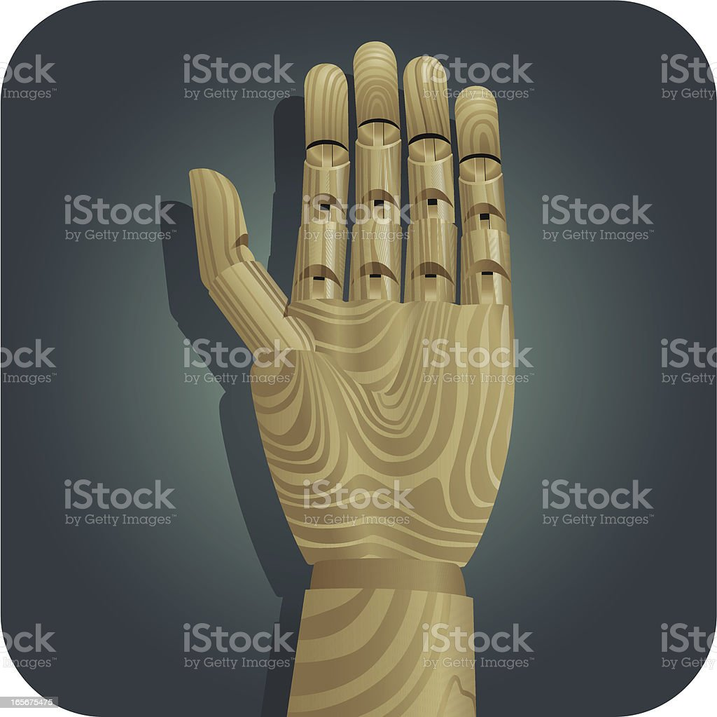 Mannequin Hand royalty-free stock vector art