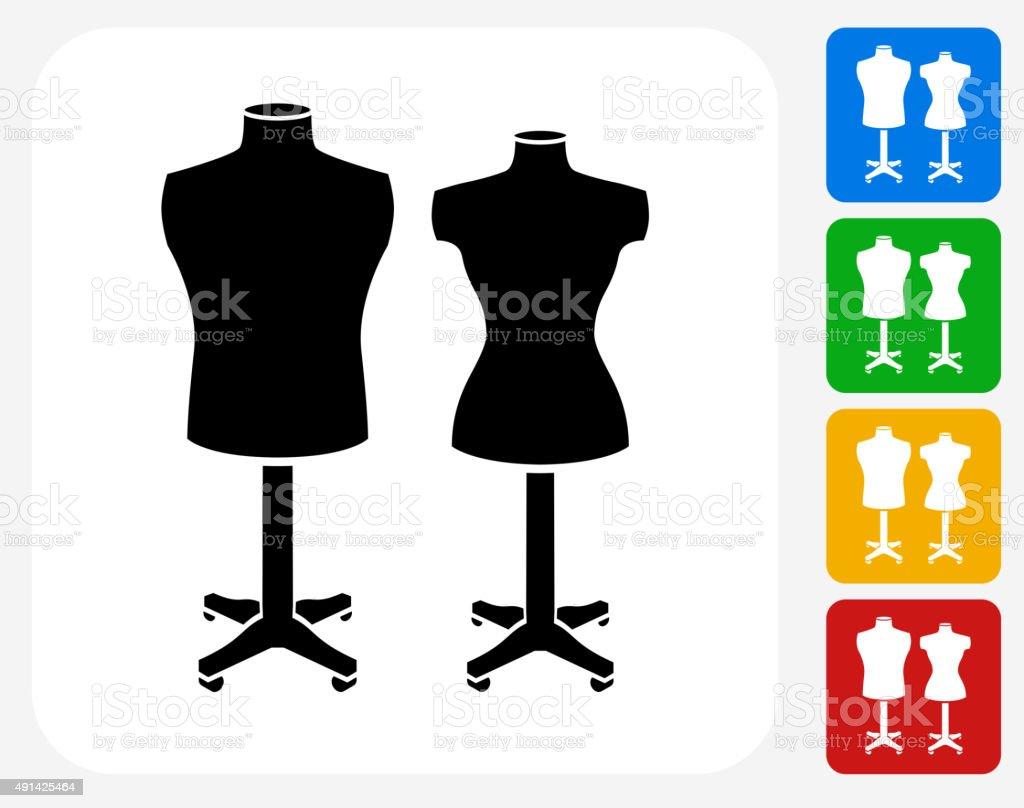 Mannequin Icon Flat Graphic Design vector art illustration