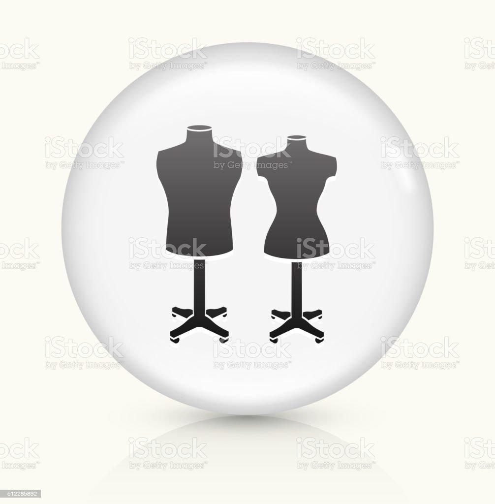 Mannequin icon on white round vector button vector art illustration