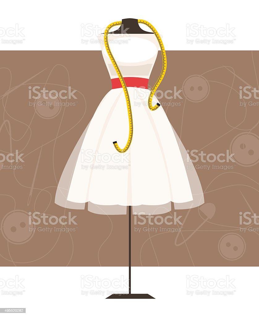Mannequin with dress. Vector Illustration vector art illustration
