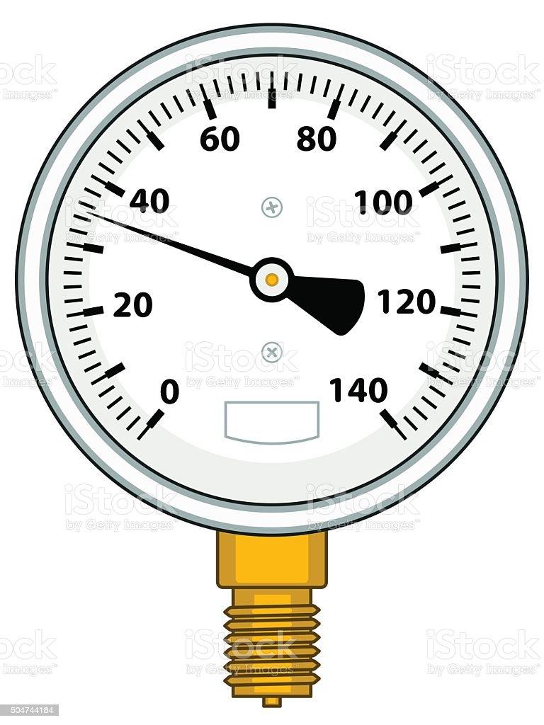 Manometer vector art illustration