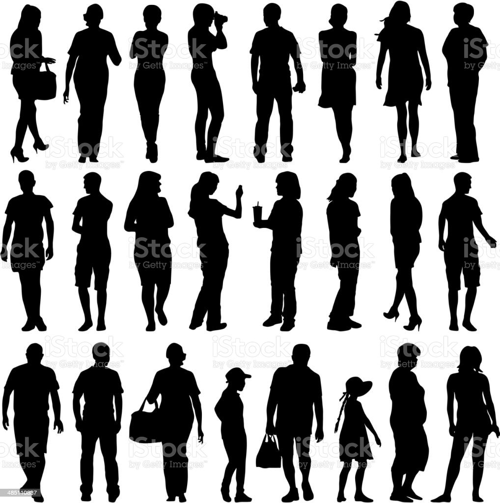 mans and womans vector art illustration