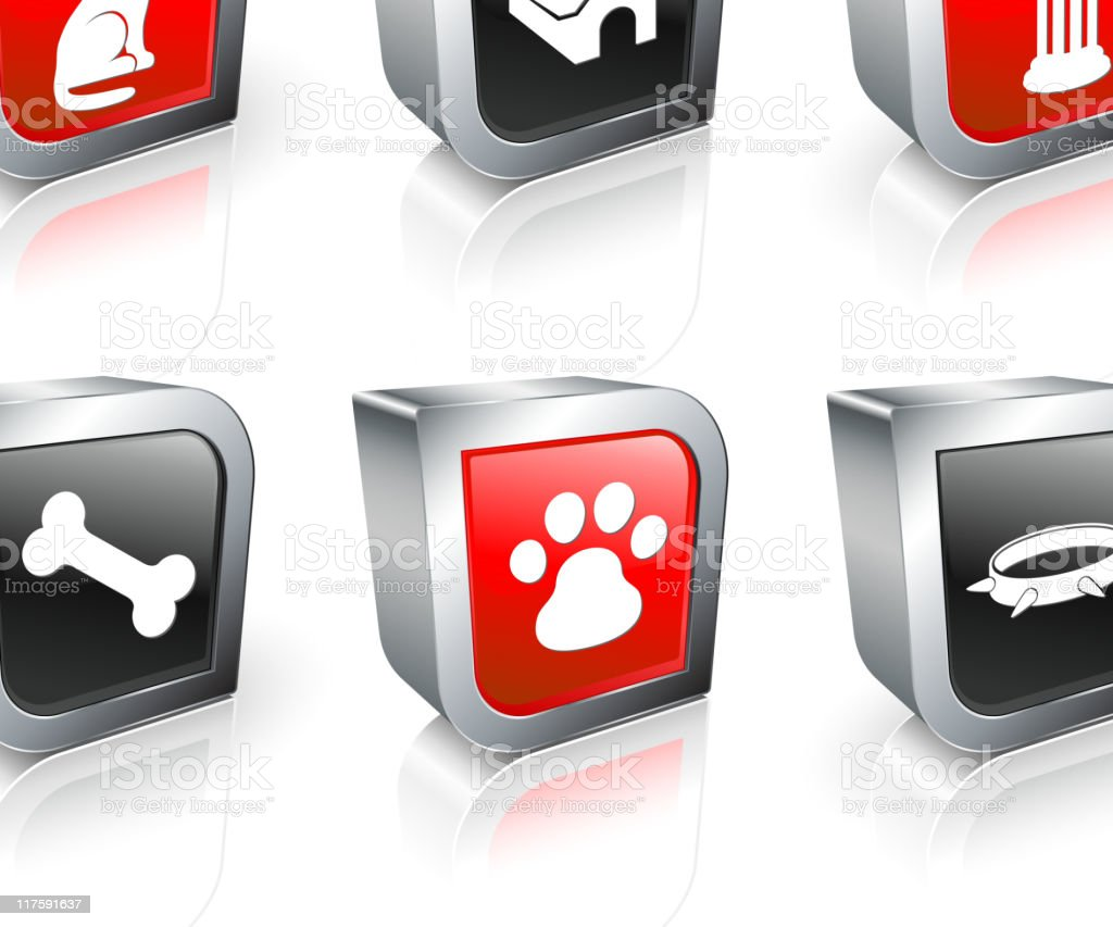man's best friend 3D royalty free vector icon set royalty-free stock vector art