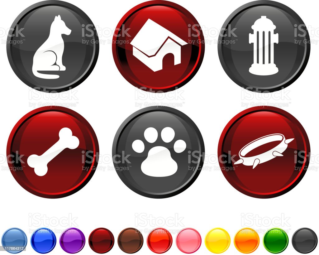 man's best friend royalty free vector icon set royalty-free stock vector art