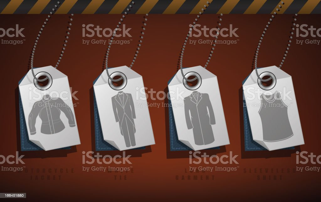 Man's Clothing royalty-free stock vector art