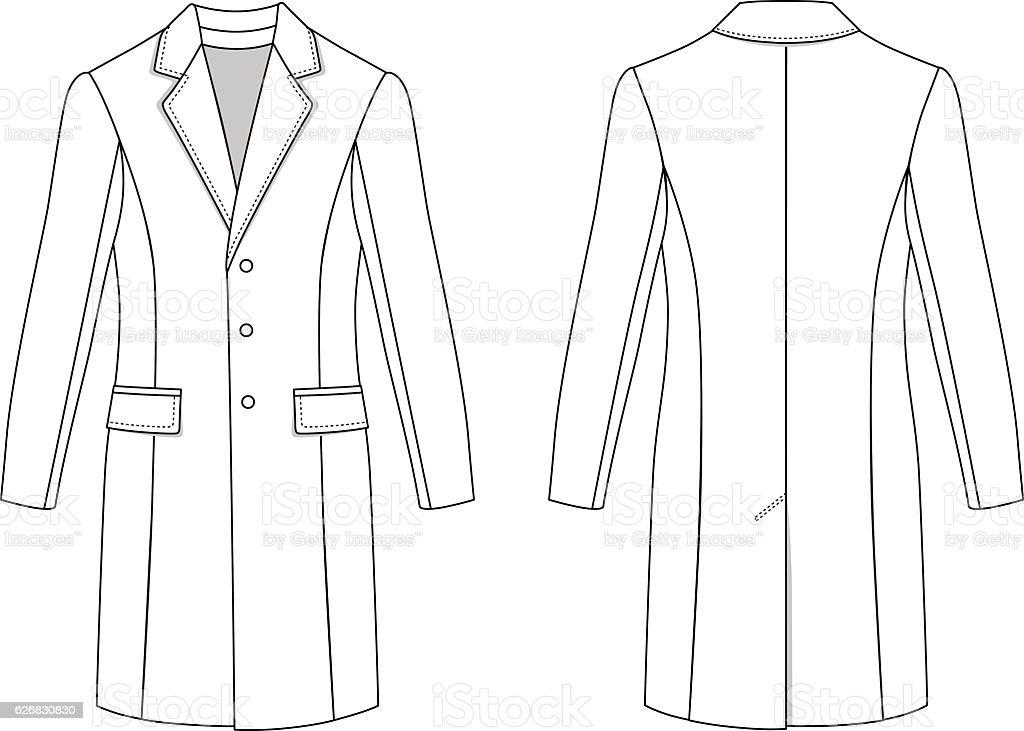 Man's coat vector art illustration
