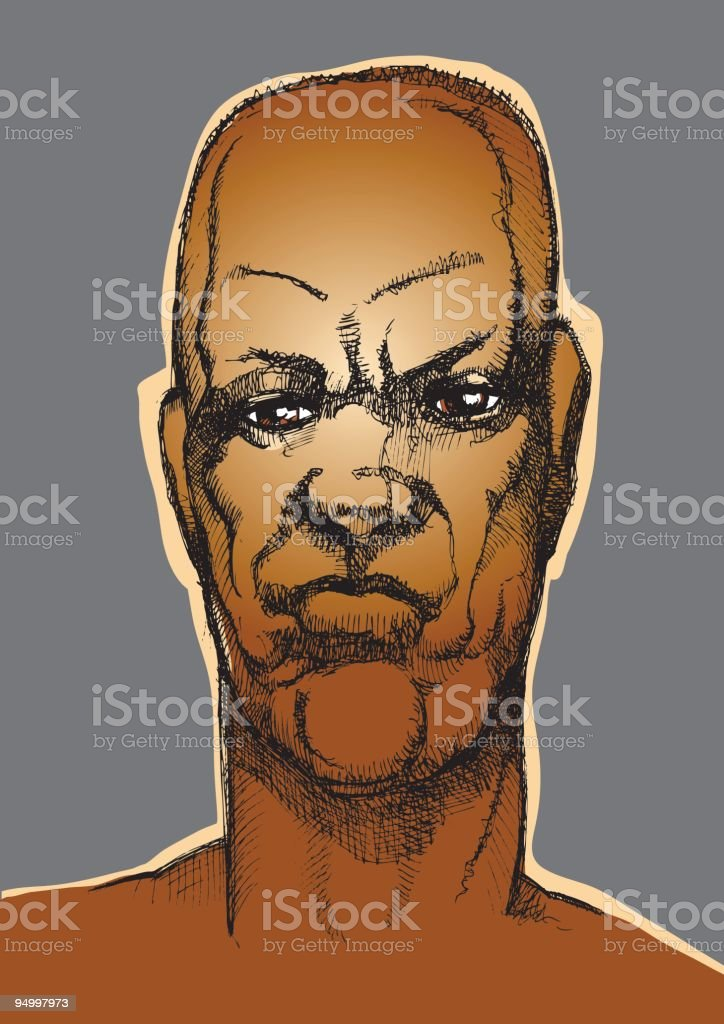 Mans face royalty-free stock vector art