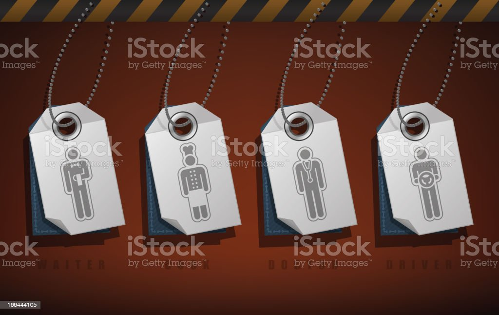 Mans occupation royalty-free stock vector art