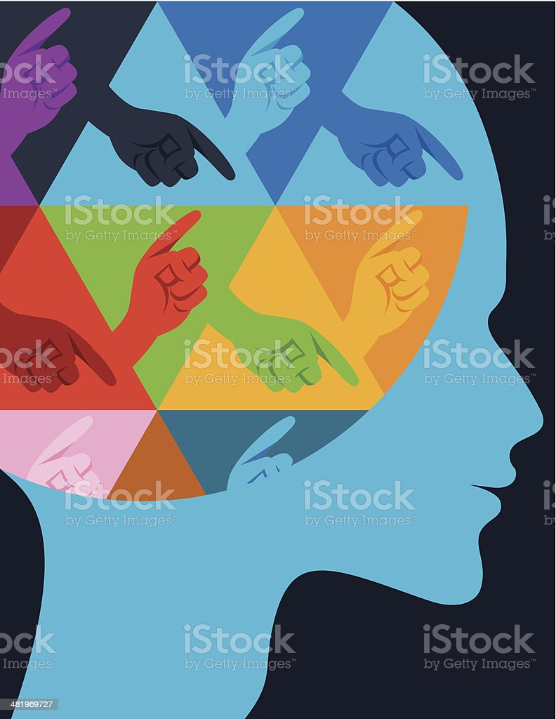 Man's profile. royalty-free stock vector art