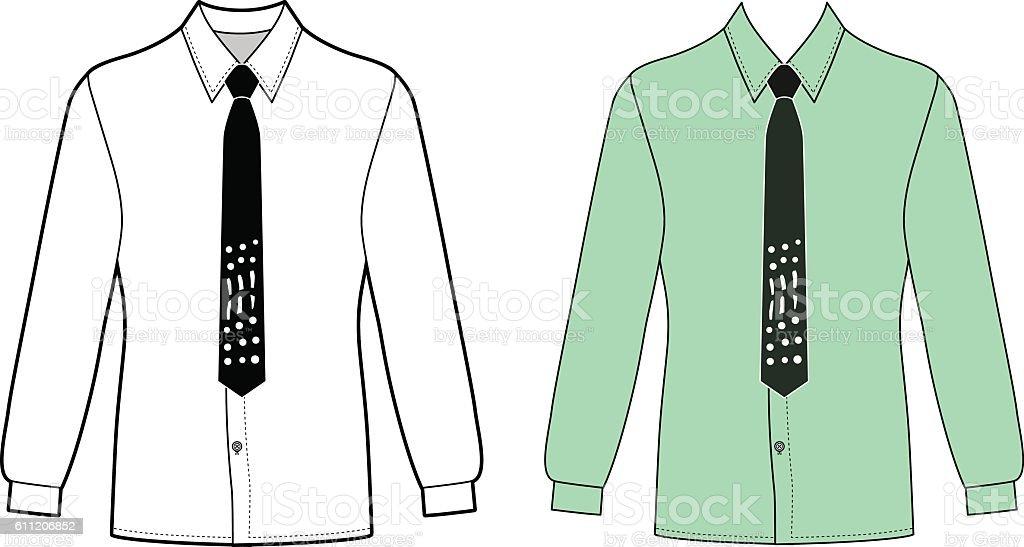 Man's shirt & tie vector art illustration