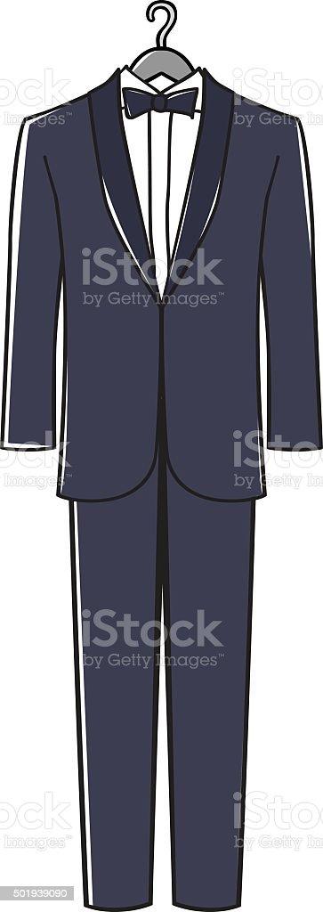 Man's Suit vector art illustration