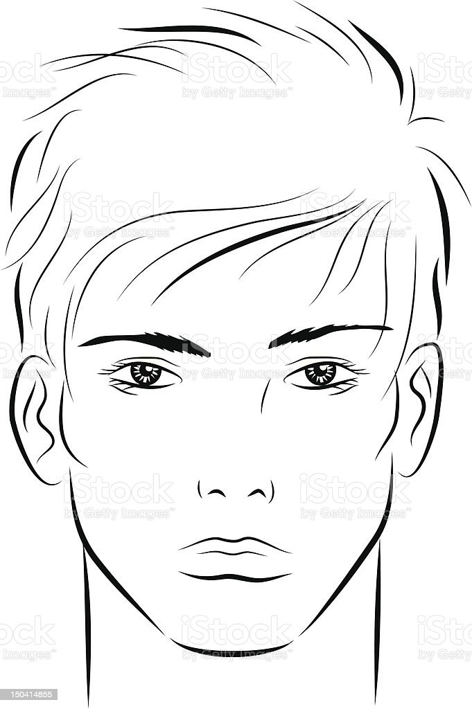 Man'sFace vector art illustration