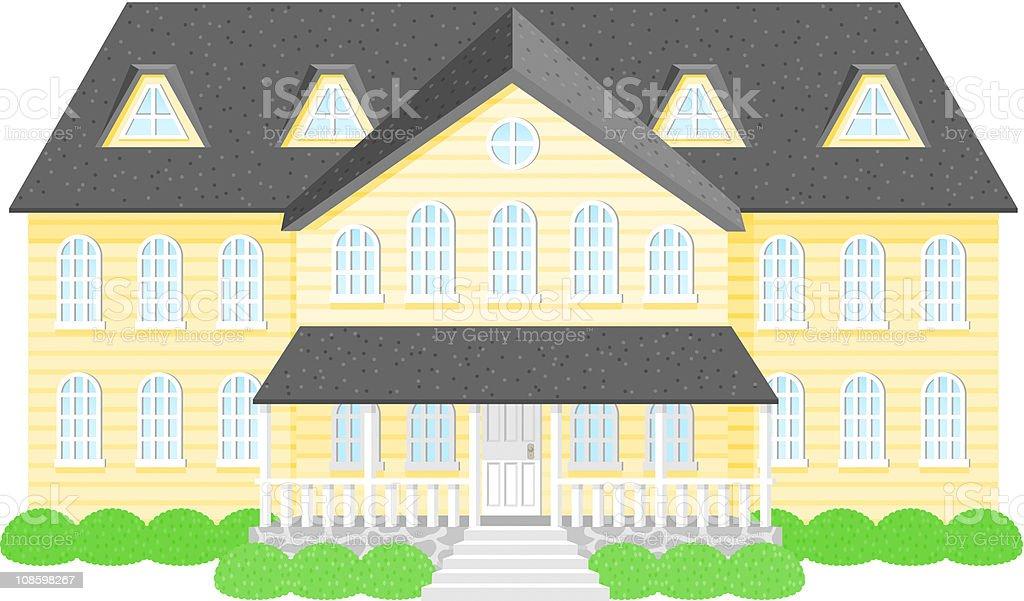 Mansion royalty-free stock vector art