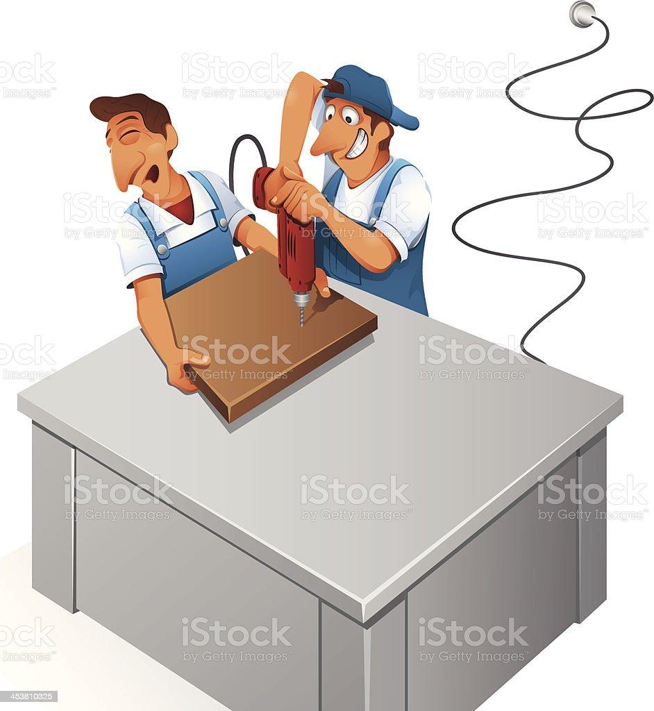 Manual Worker - Illustration vector art illustration