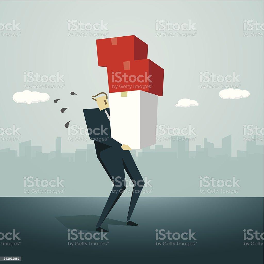 Manual Worker vector art illustration