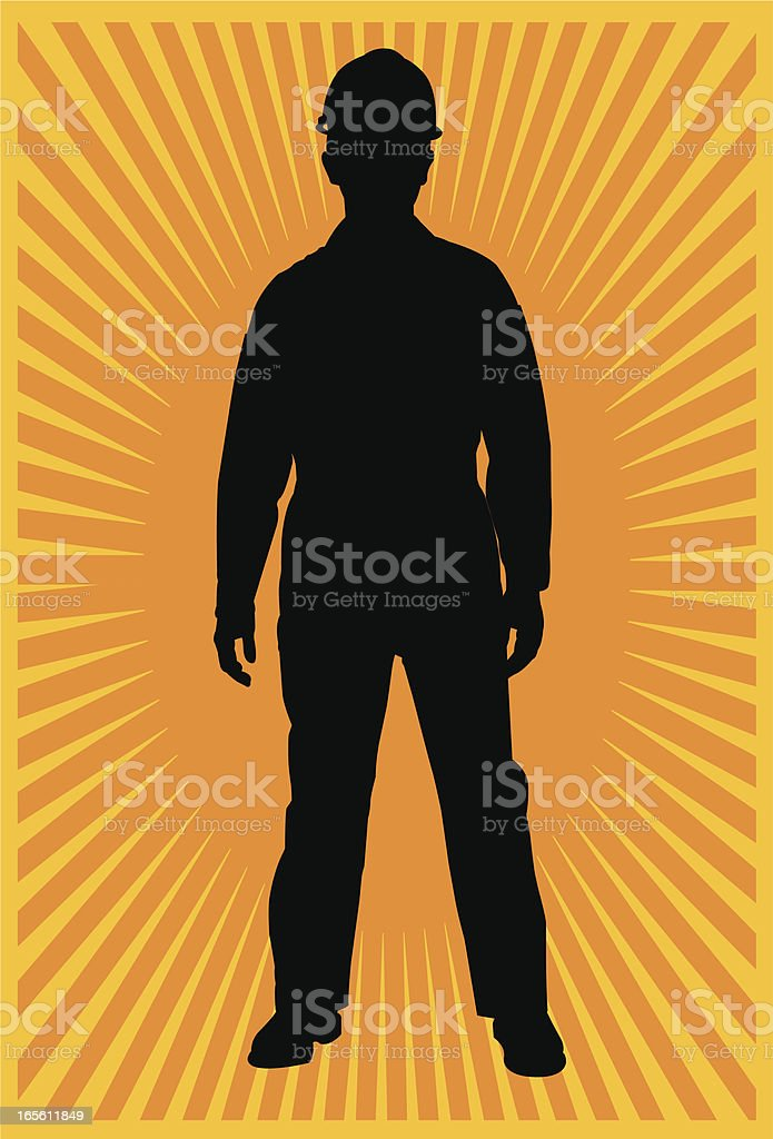 Manual Worker with Backround royalty-free stock vector art