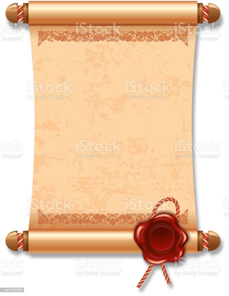 Manuscript royalty-free stock vector art