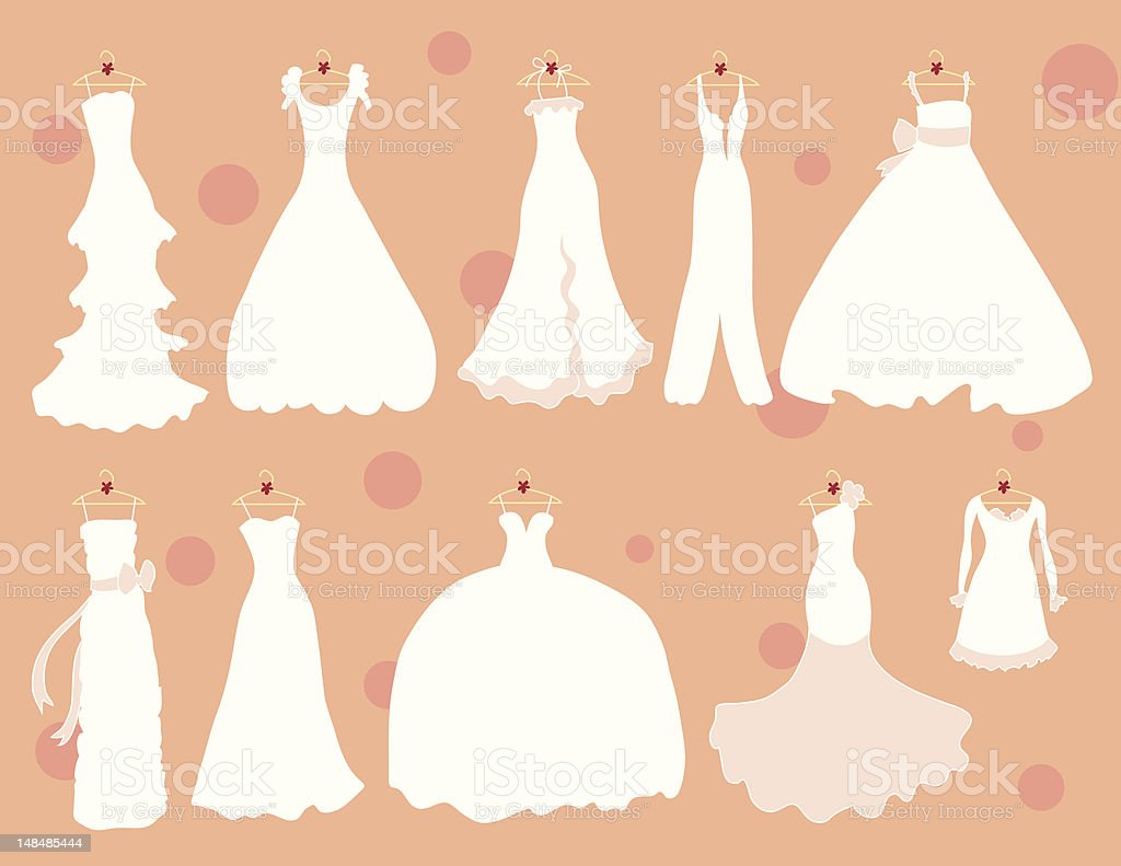 Many More Dresses vector art illustration