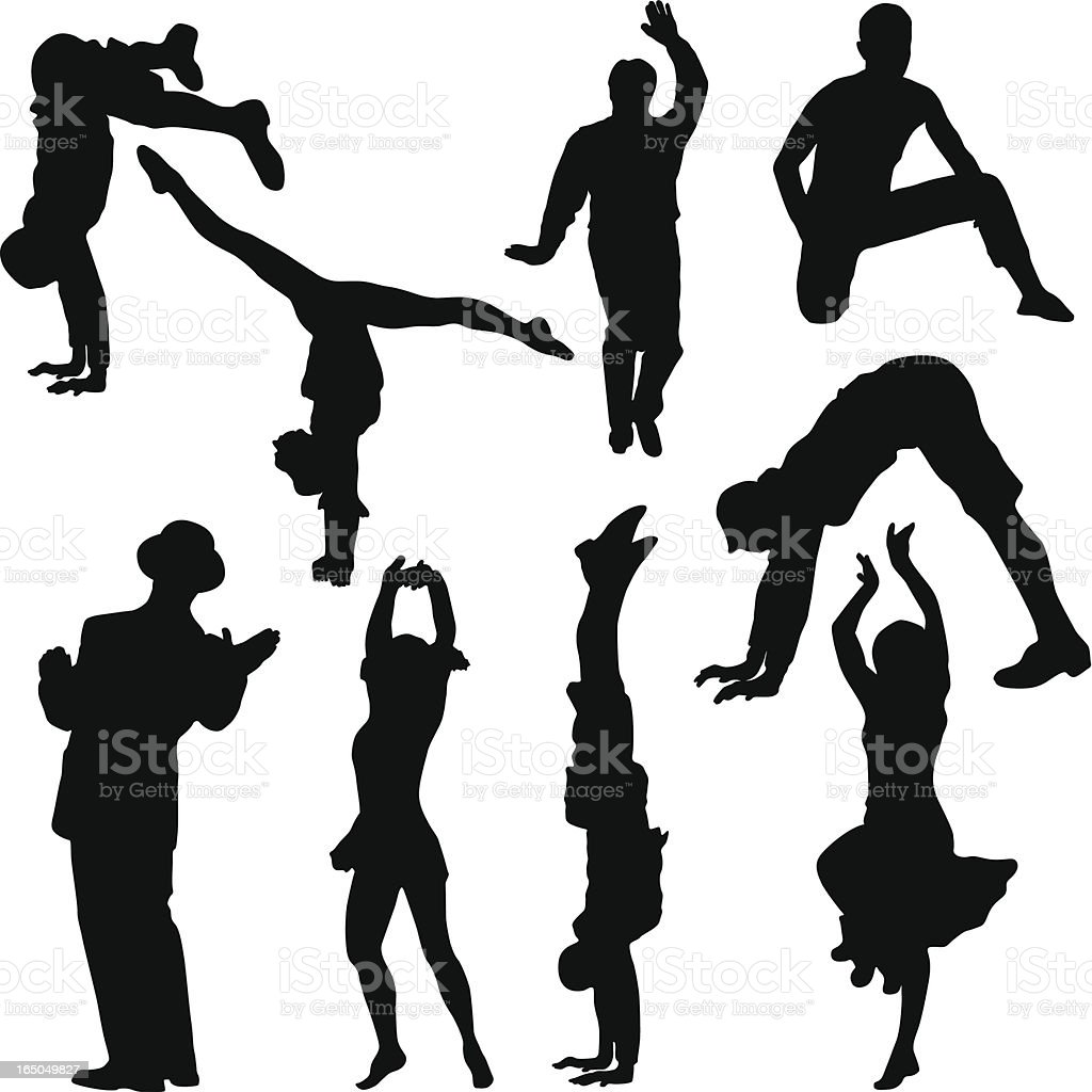 Many types of performing people royalty-free stock vector art
