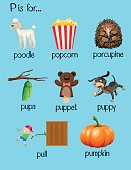 Many words begin with letter P