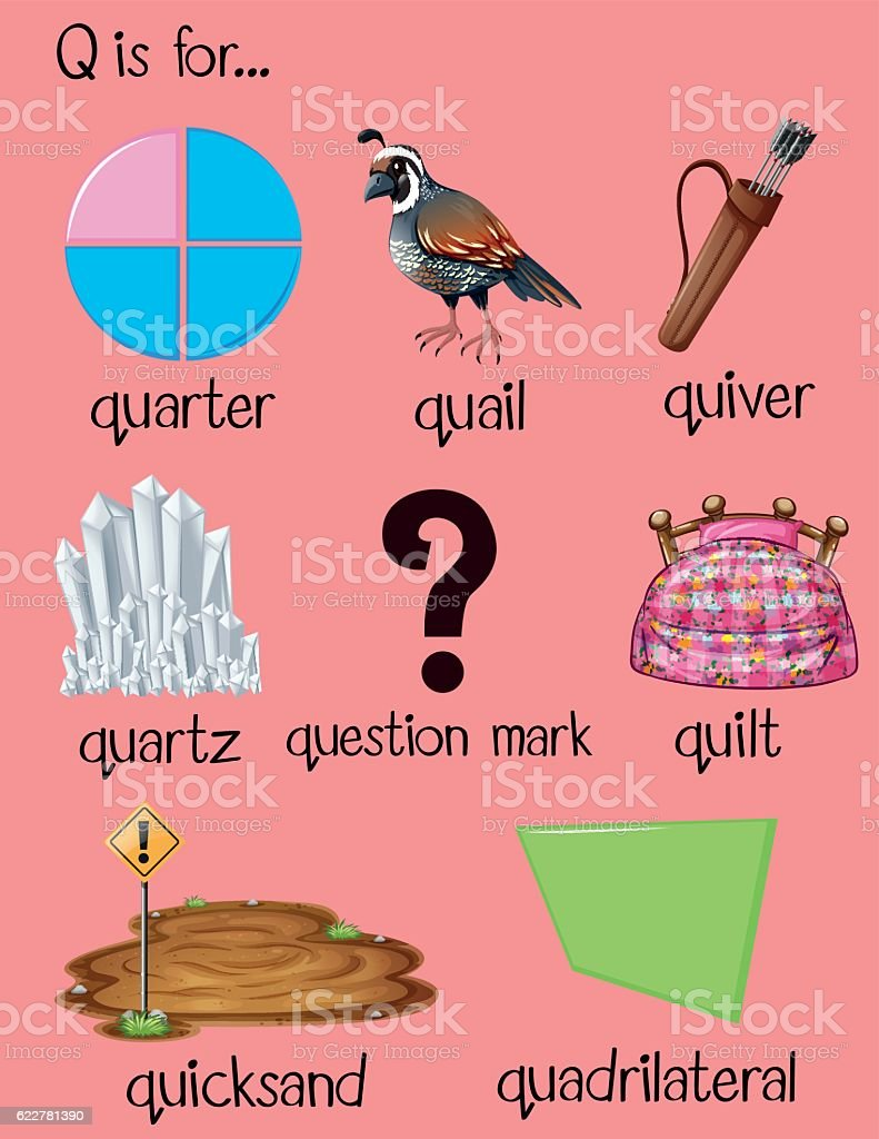 words that start with k preschool preschool words beginning with the letter q two letter 469