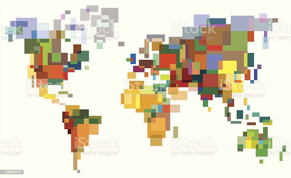 Many-Colored World vector art illustration