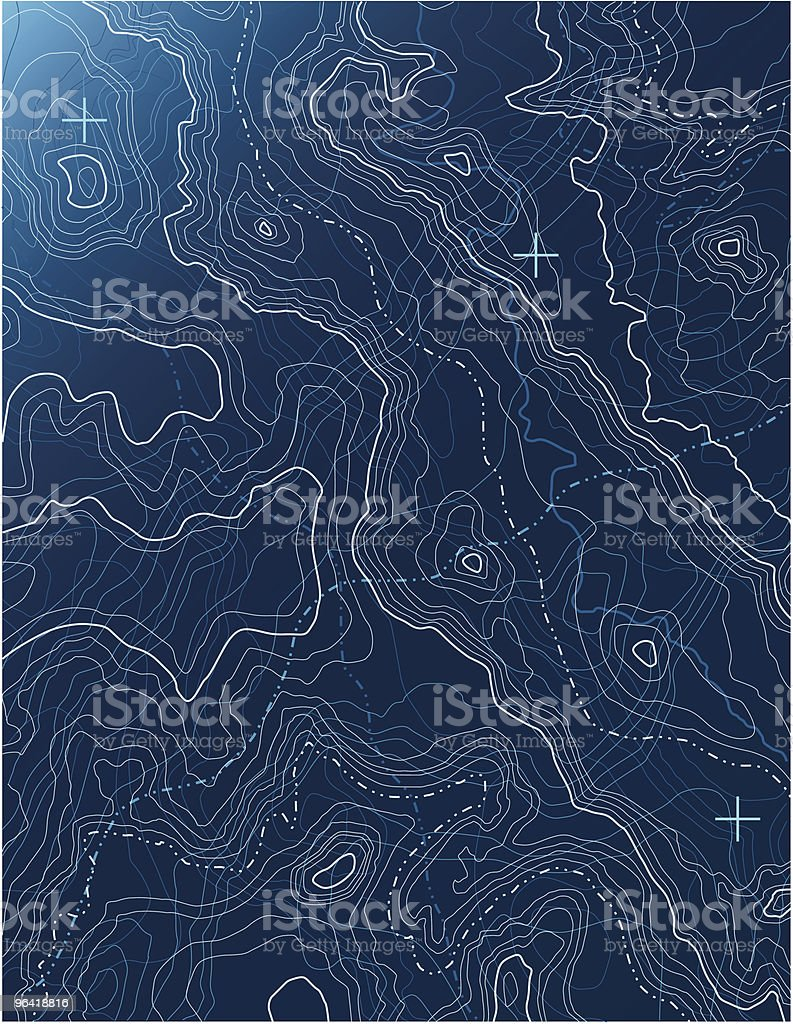 Map Abstract [vector] vector art illustration