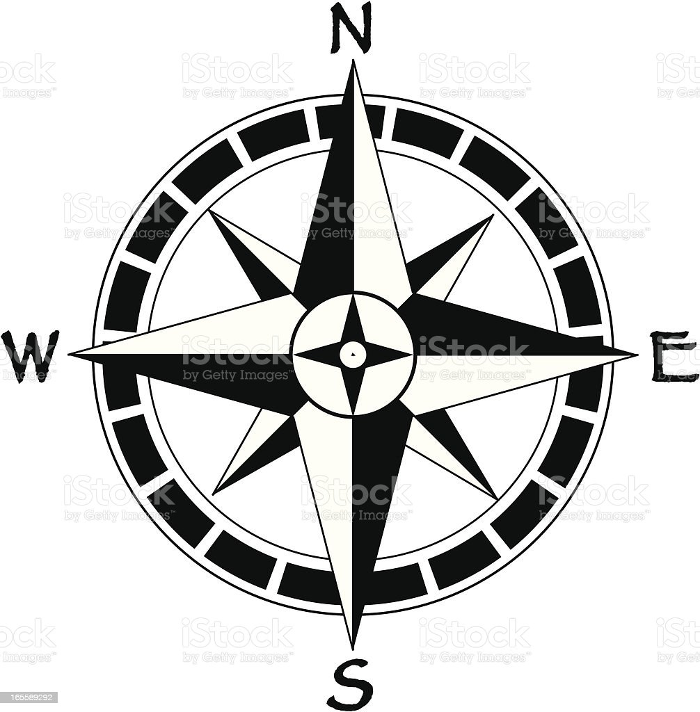 map compass royalty-free stock vector art