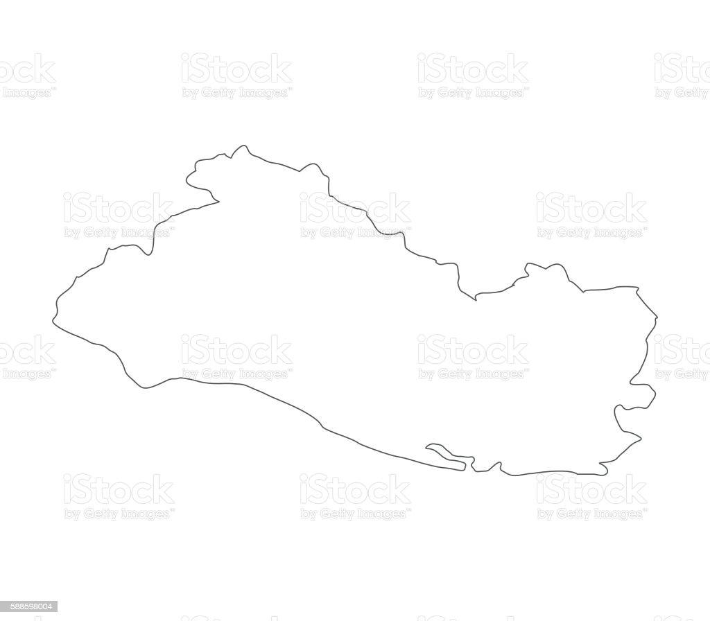 map El Salvador vector art illustration