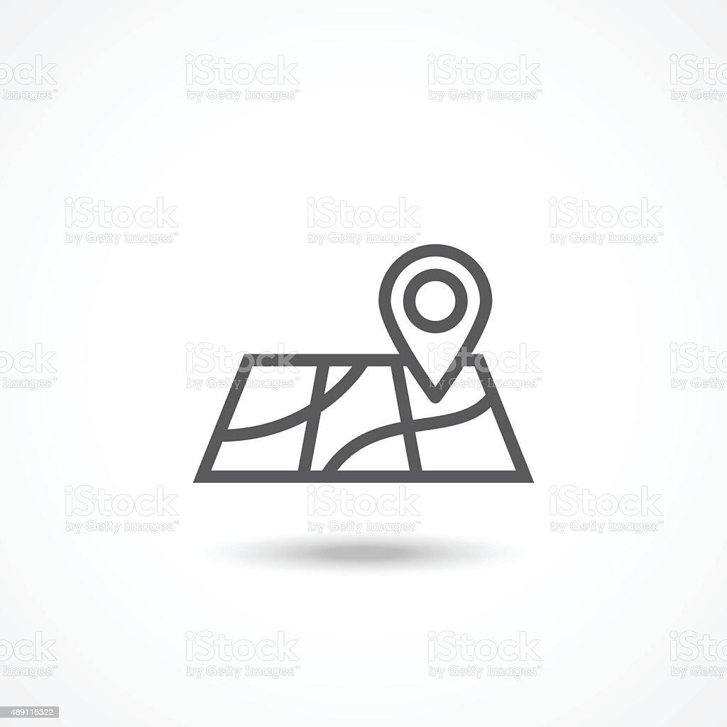 Map icon vector art illustration