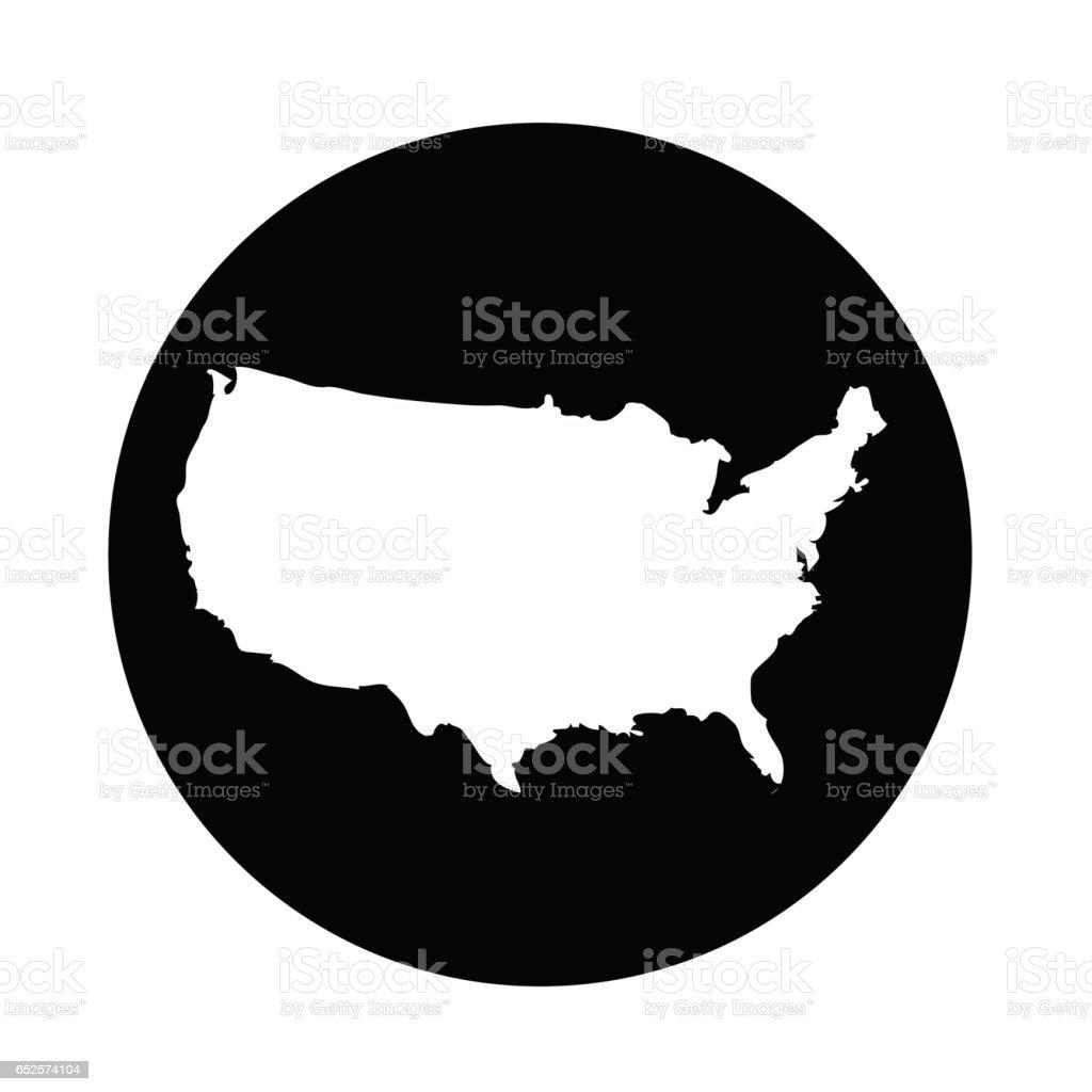 Usa Map Icon Stock Vector Art IStock - Us map icon