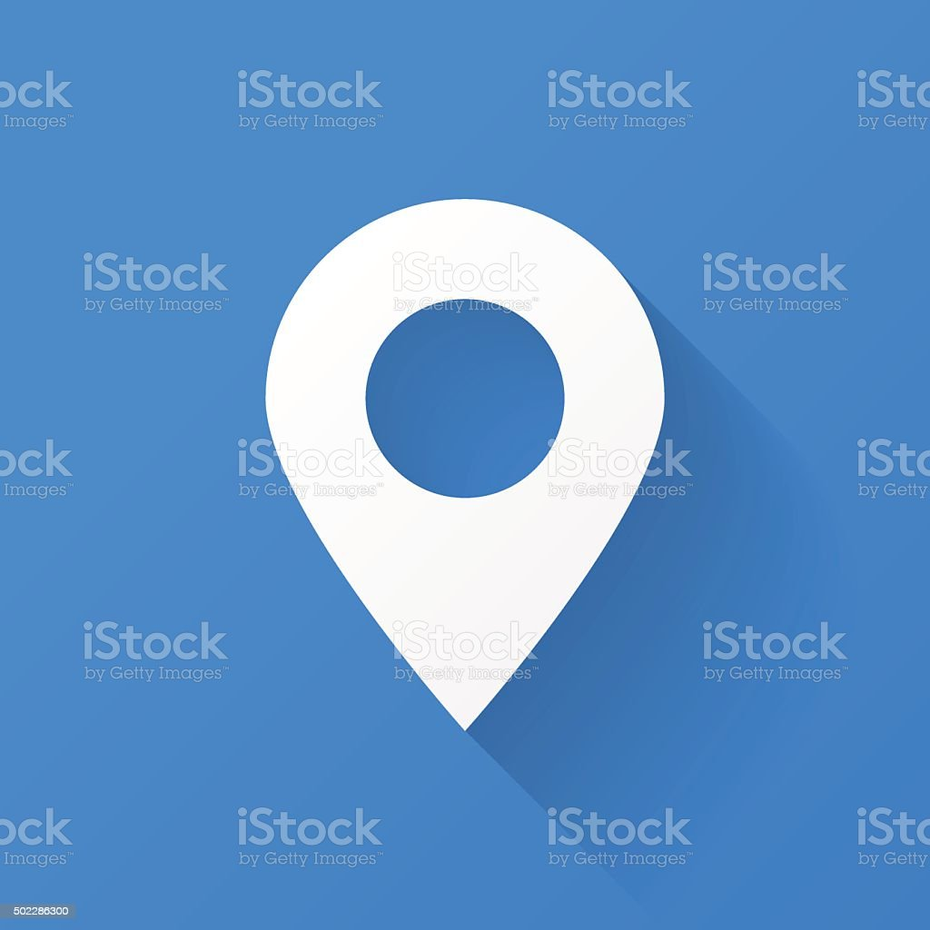Map Marker Icon vector art illustration