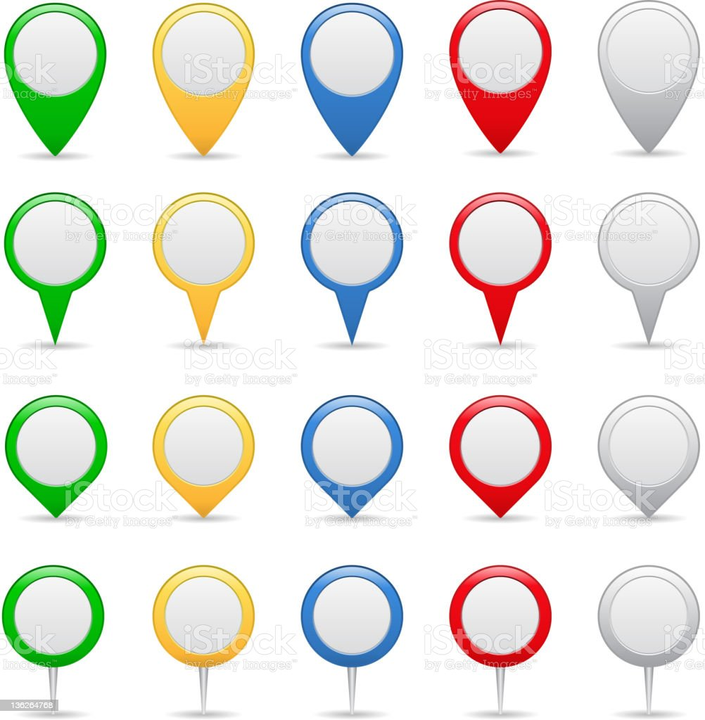 Map Markers royalty-free stock vector art